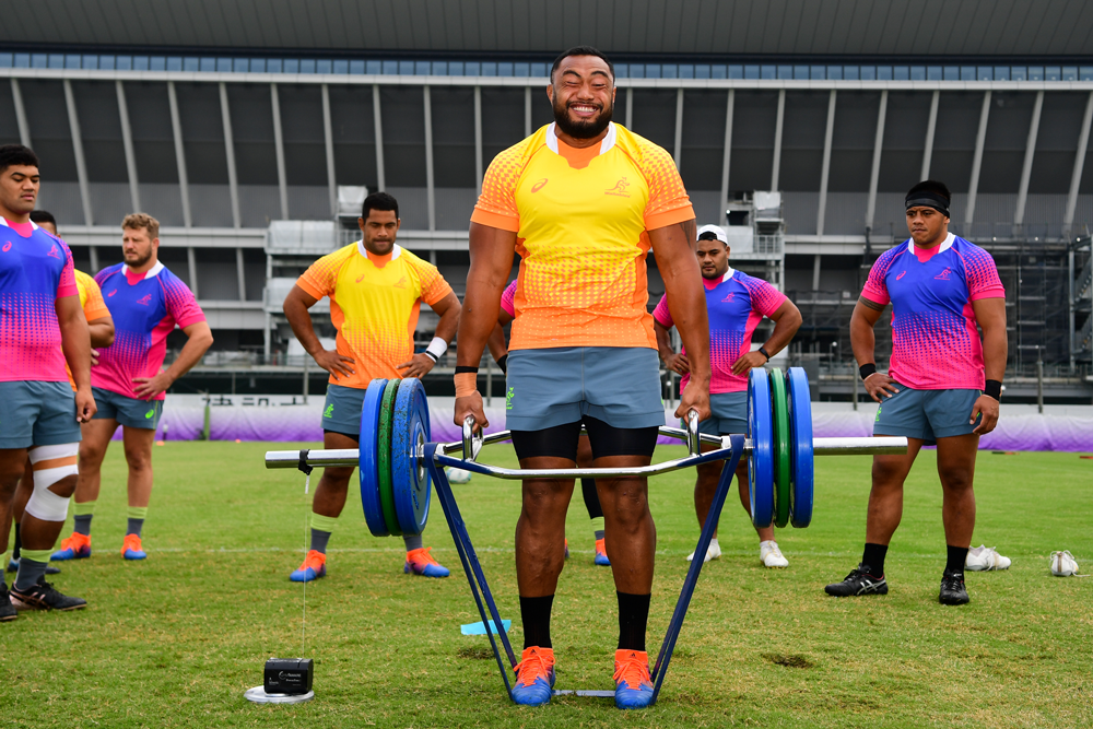 Sekope Kepu says the Wallabies have been throwing themselves into preparation for Georgia. Photo: RUGBY.com.au/Stuart Walmsley