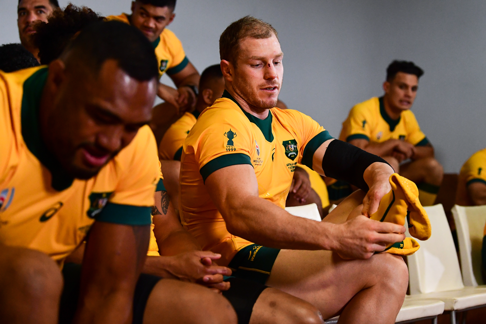 David Pocock says the Wallabies aren't distracted by the potential impacts of Typhoon Hagibis. Photo: RUGBY.com.au/Stuart Walmsley