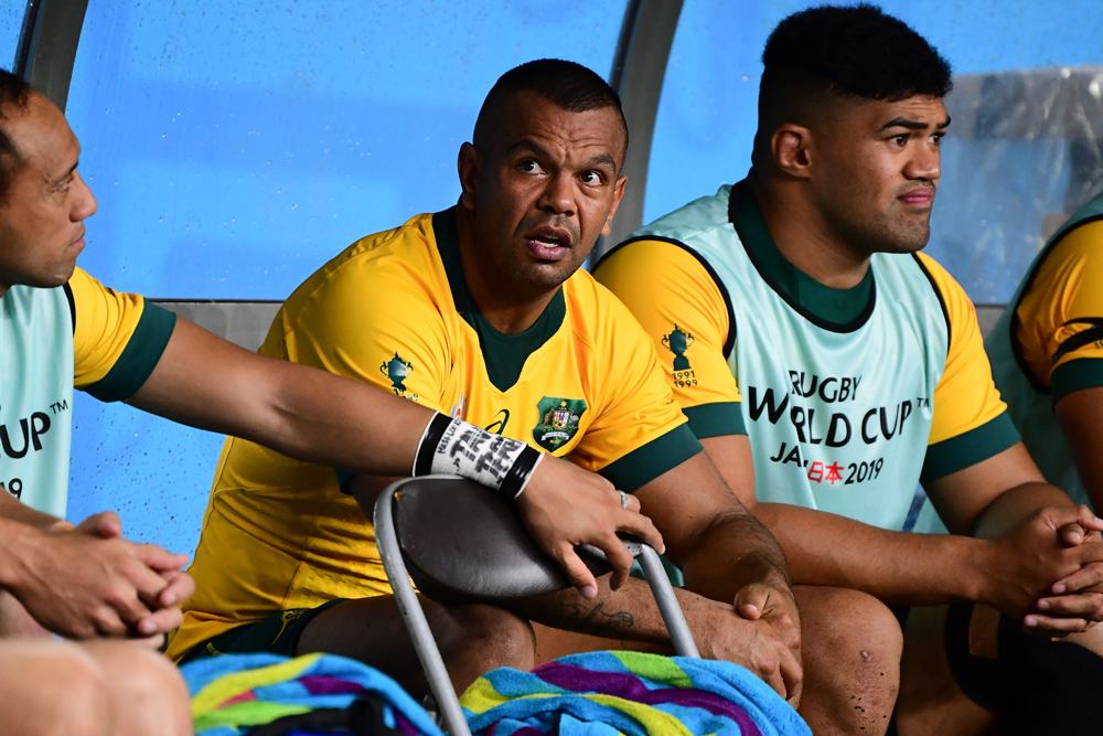 Kurtley Beale was forced off in just the 13th minute. Photo: RUGBY.com.au/Stuart Walmsley