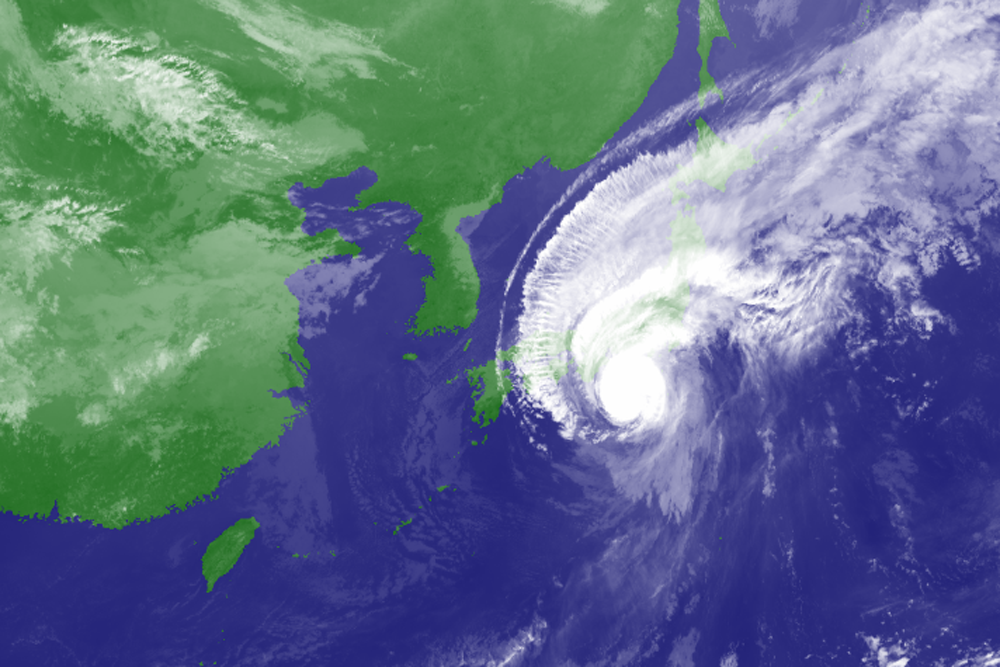 A satellite picture of Typhoon Hagibis at 10am JST on Saturday. Photo: Japan Meteorological Agency