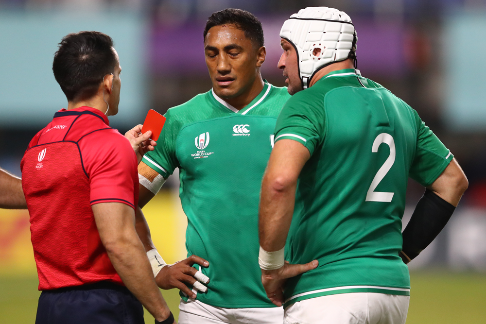 Bundee Aki is the latest player to be carded at the Rugby World Cup. Photo: Getty Images