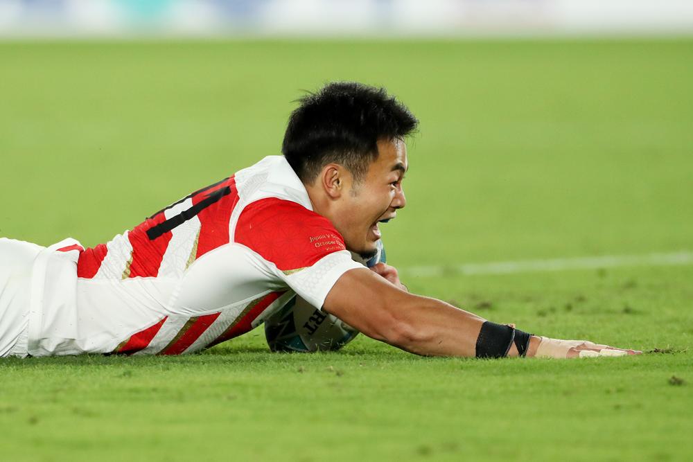 Kenki FUkuoka scored two tries in Japan's win. Photo: Getty Images