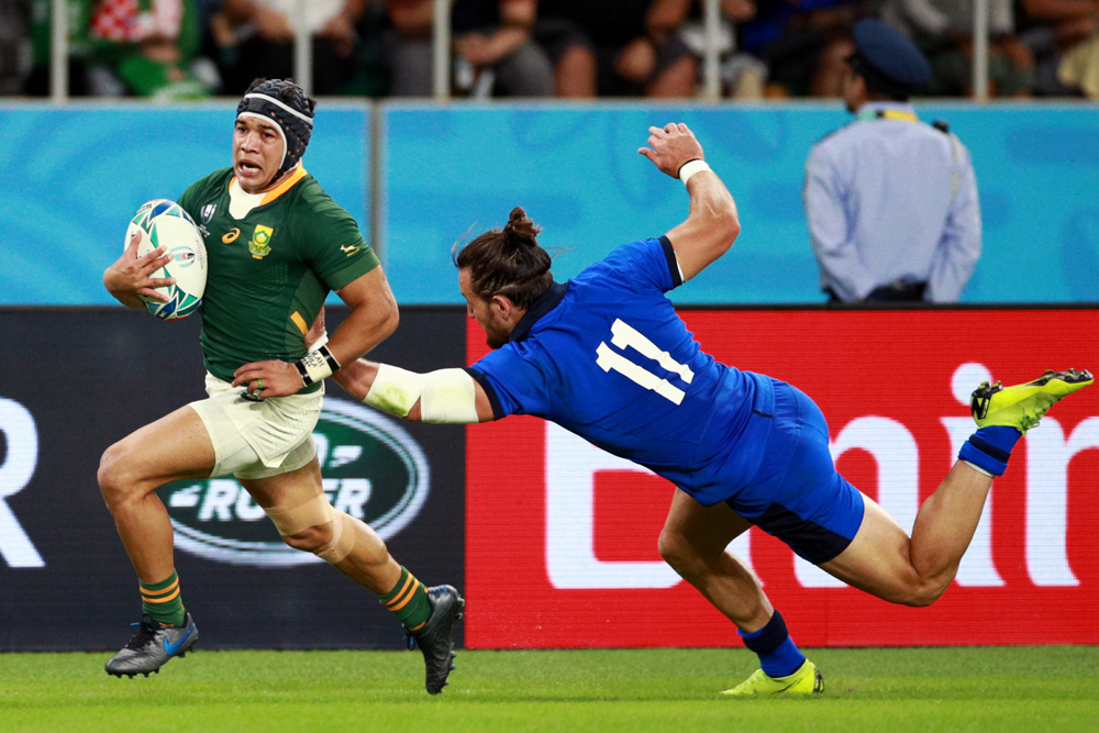 Cheslin Kolbe has returned to the Springboks team for their quarter-final. Photo: Getty Images