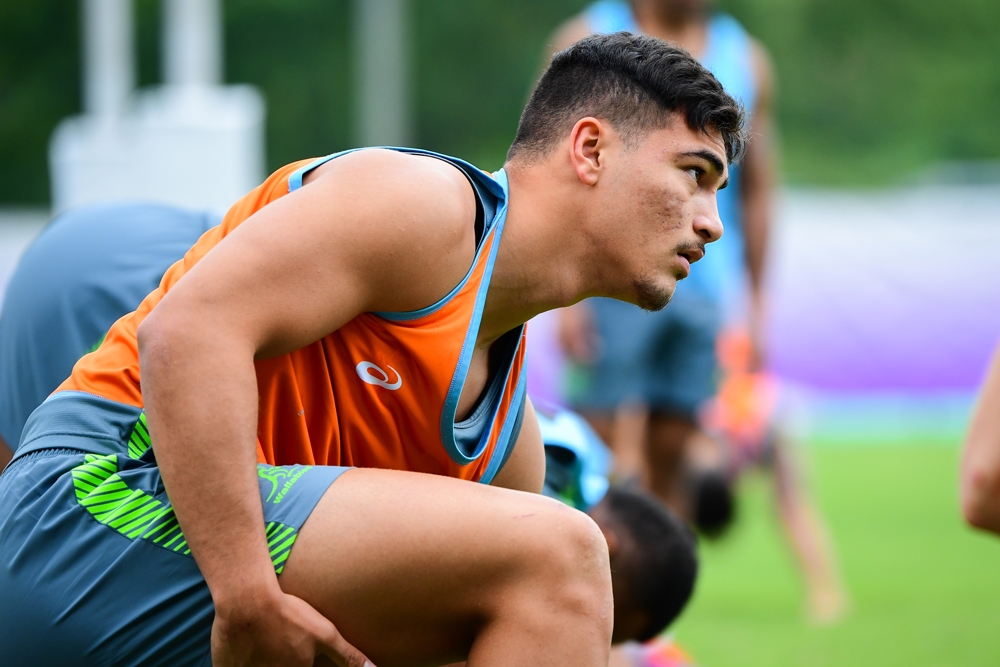 Jordan Petaia looks likely to play at 13 for the Wallabies against England. Photo: RUGBY.com.au/Stuart Walmsley