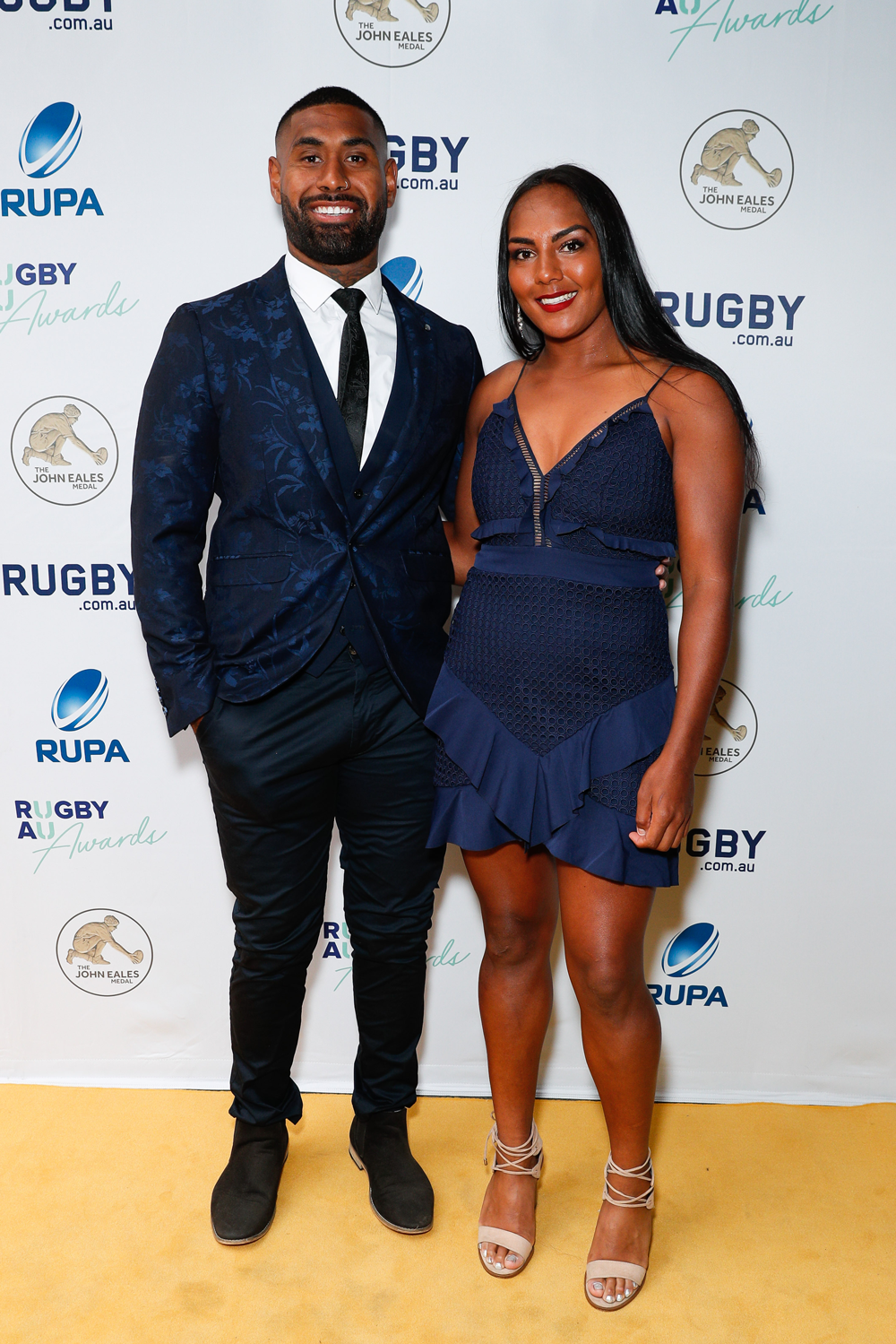 Mahalia Murphy and her partner at the Rugby Australia Awards. Photo: Getty Images