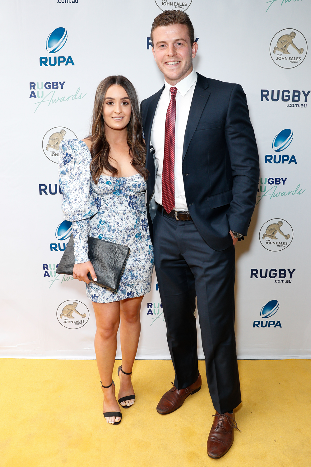 Nick Malouf and his partner at the Rugby Australia Awards. Photo: Getty Images