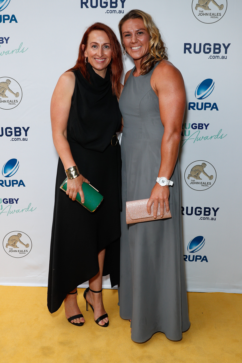 Aussie Sevens co-captain Sharni Williams and partner Mel Smales. Photo: Getty Images