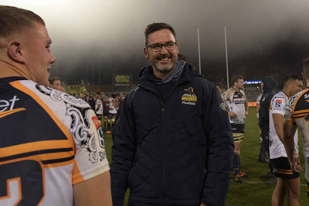 Dan McKellar coached the Brumbies to a Super Rugby semi-final in 2019. Photo: Getty Images
