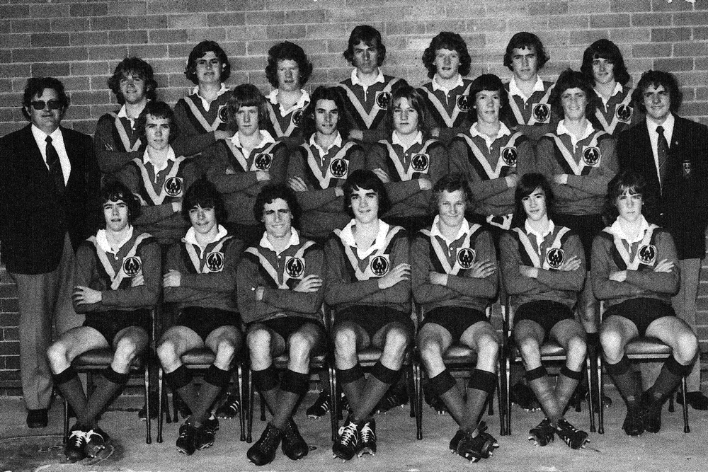 Barry Cooper (right) as coach of South Australia under 16s in 1975. Photo: Supplied