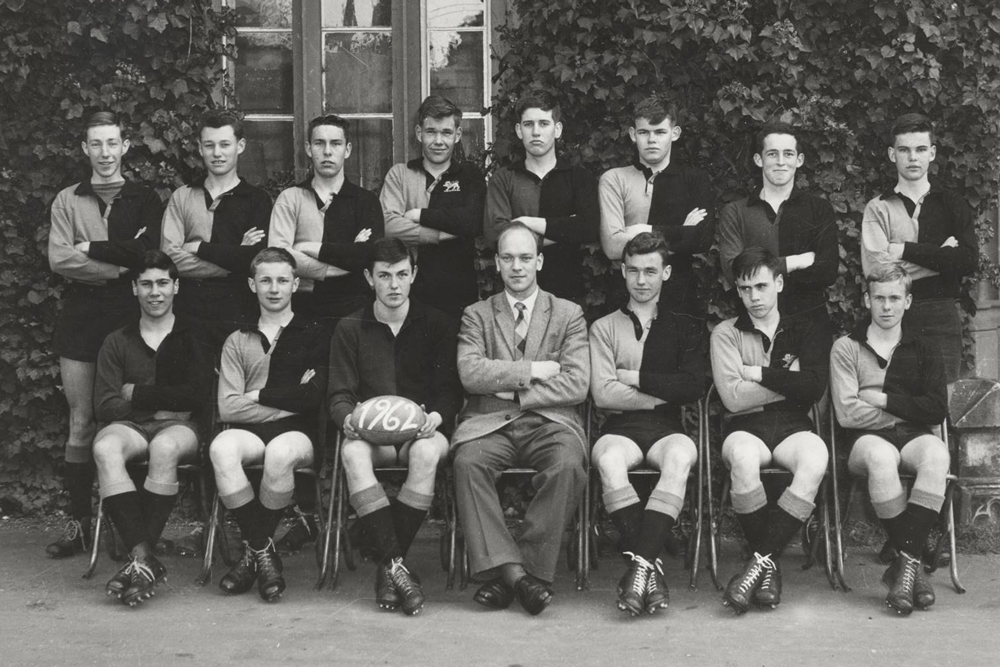 The Hutchins School First XV in 1962. Photo: Supplied