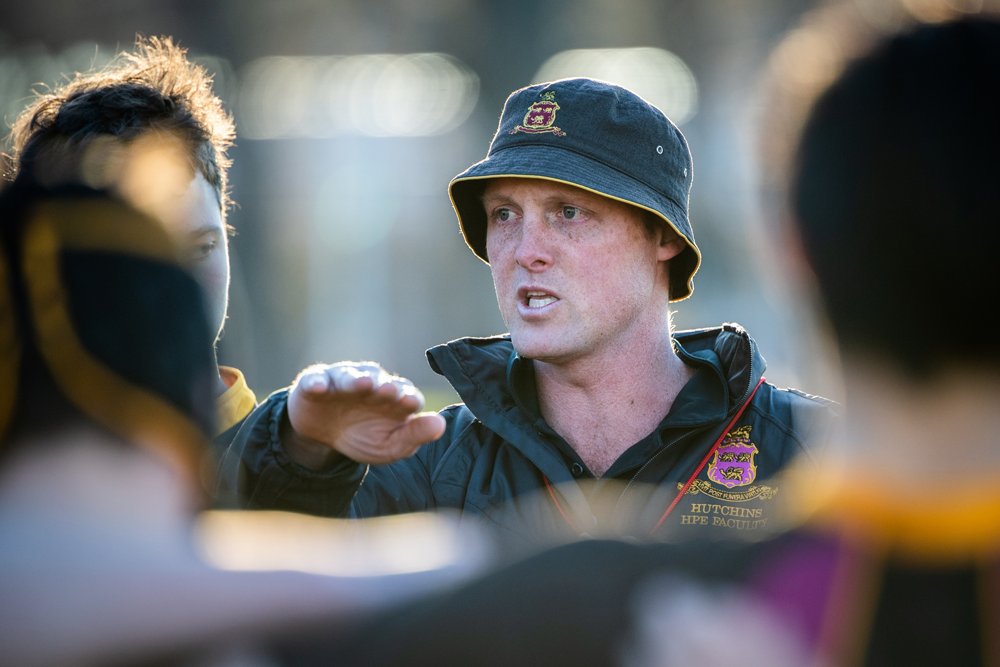 Head rugby coach at Hutchins, Shaun Killian. Photo: Rugby AU Media/Stuart Walmsley