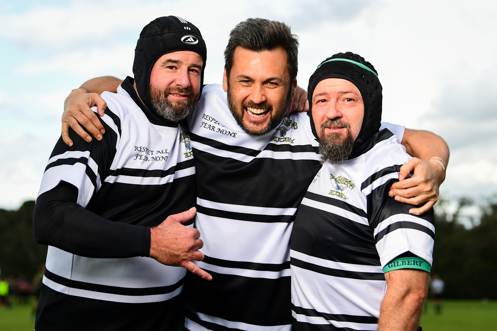 Vic Masters are staying tight with a well-being program over summer. Photo: Rugby AU Media/Stuart Walmsley