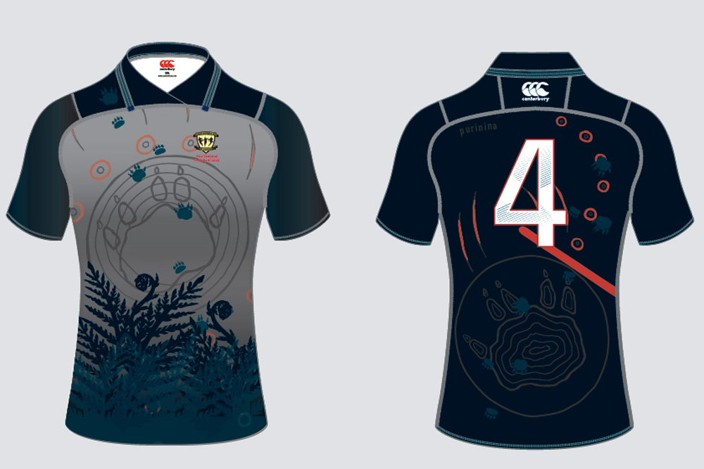 The jersey which will be worn by The Rugby Union Academy Devils in April.