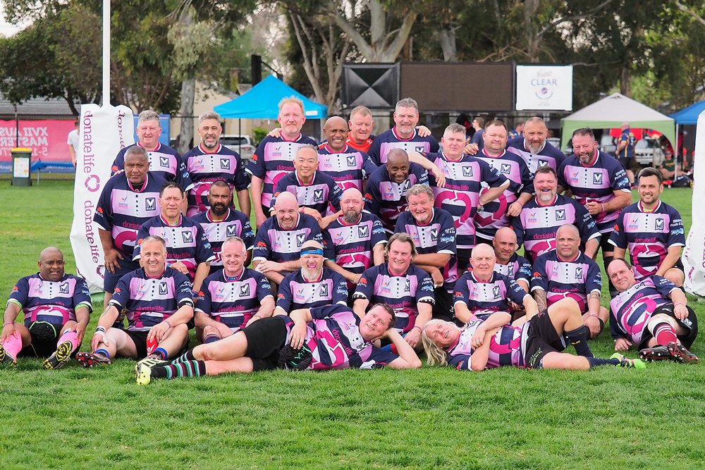 The Vic Masters squad at the Australian Masters Games in October. Photo: Mike Maskery