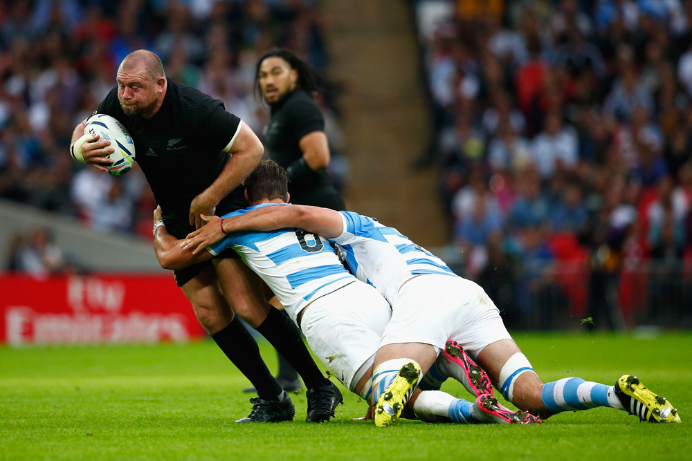 Tony Woodcock is one of the world's greatest ever loosehead prop. Photo: Getty Images