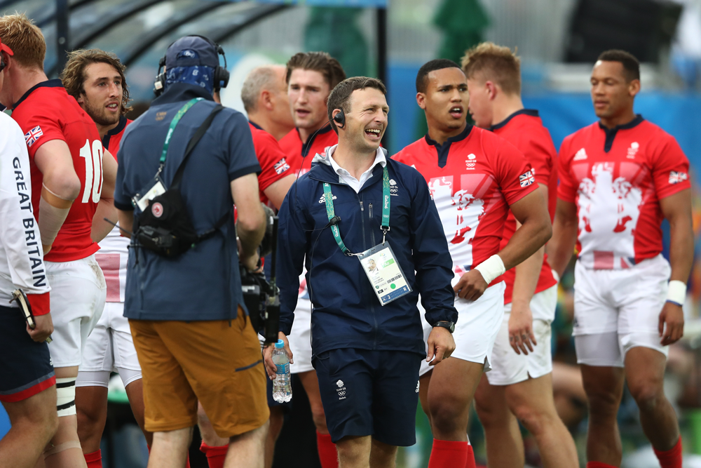 Simon Amor led the GB Sevens to an Olympic silver medal in Rio. Photo: Getty Images