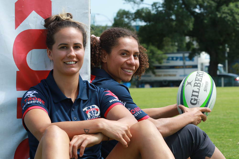 Meretiana Robinson (left) and Mel Kawa will captain the Rebels Super W side in 2020. Photo: Rebels Media