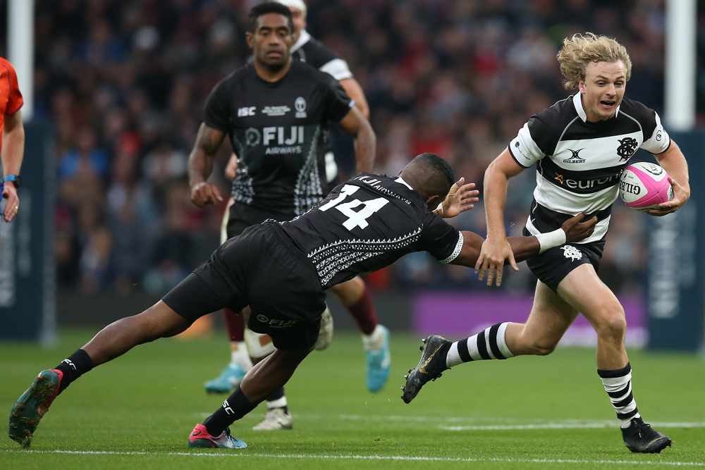 Joe Powell in action for the Barbarians. Photo: Getty Images