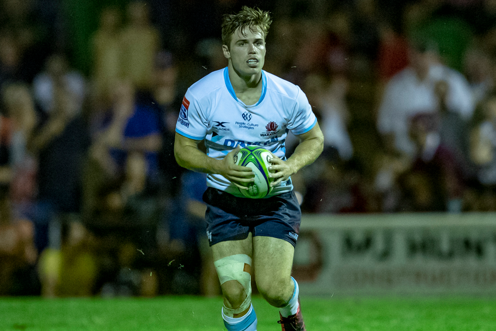 Will Harrison has been impressive in trial matches for the Waratahs. Photo: QRU Media