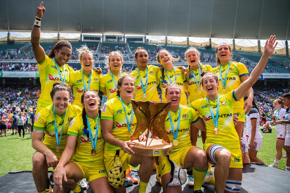 The Aussie women took out the 2018 Sydney 7s. Photo: RUGBY.com.au/Stuart Walmsley