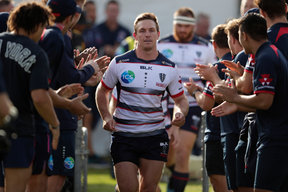 Dane Haylett-Petty leading the Rebels out in Albury. Photo: Getty Images