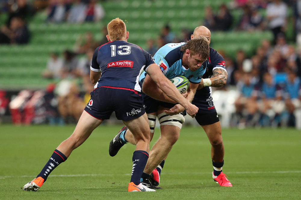 The Rebels didn't make it easy for the Waratahs. Photo: Getty Images