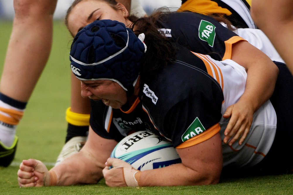 Louise Burrows scored a try for the Brumbies. Photo: Getty Images