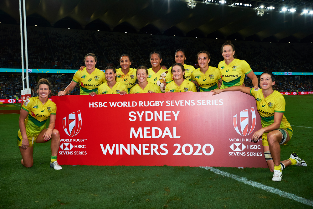 The Aussie women's Sevens are looking to fill a gap in their calendar. Photo:Getty Images