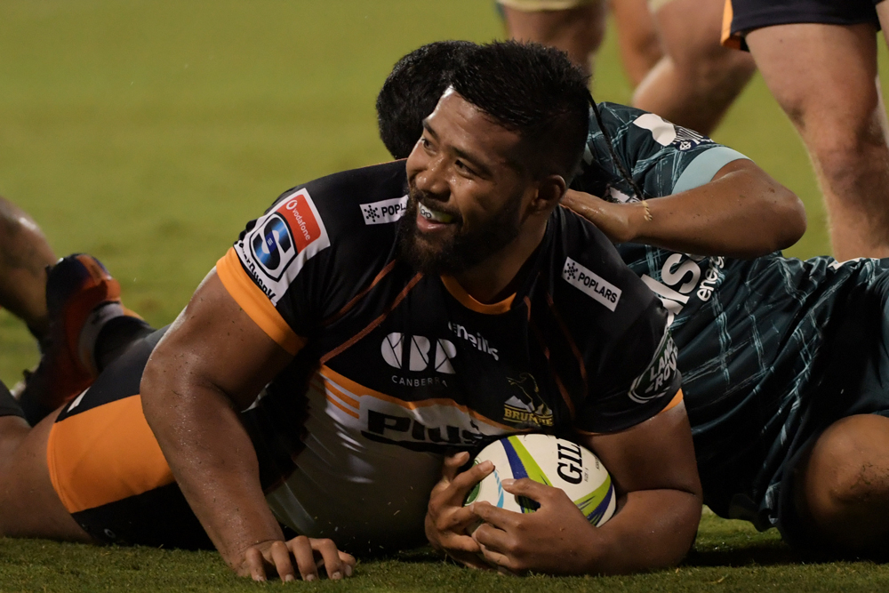 Folau Fainga'a was on the end of three rolling maul tries on Saturday night. Photo: Getty Images