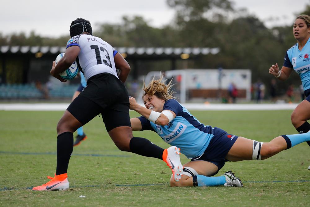 Grace Hamilton led from the front against Fijiana. Photo: karen Watson
