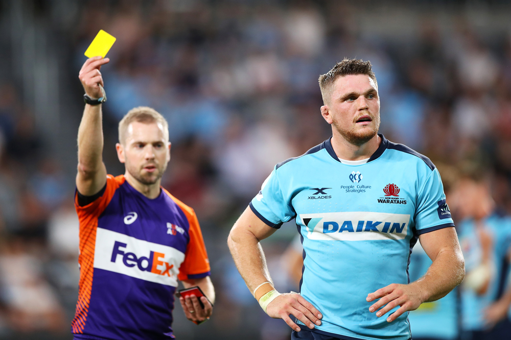 Lachie Swinton's yellow card was the only blip on an otherwise impressive game. Photo: Getty Images