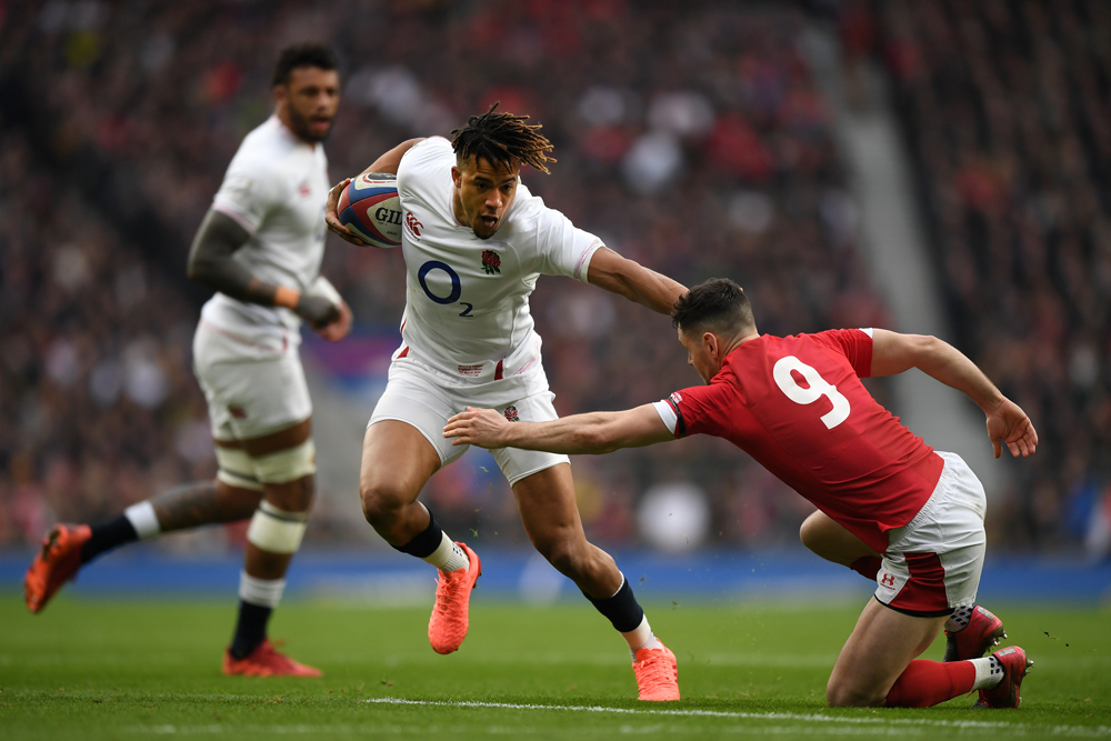 Anthony Watson was back in his vintage try-scoring form. Photo: Getty Images