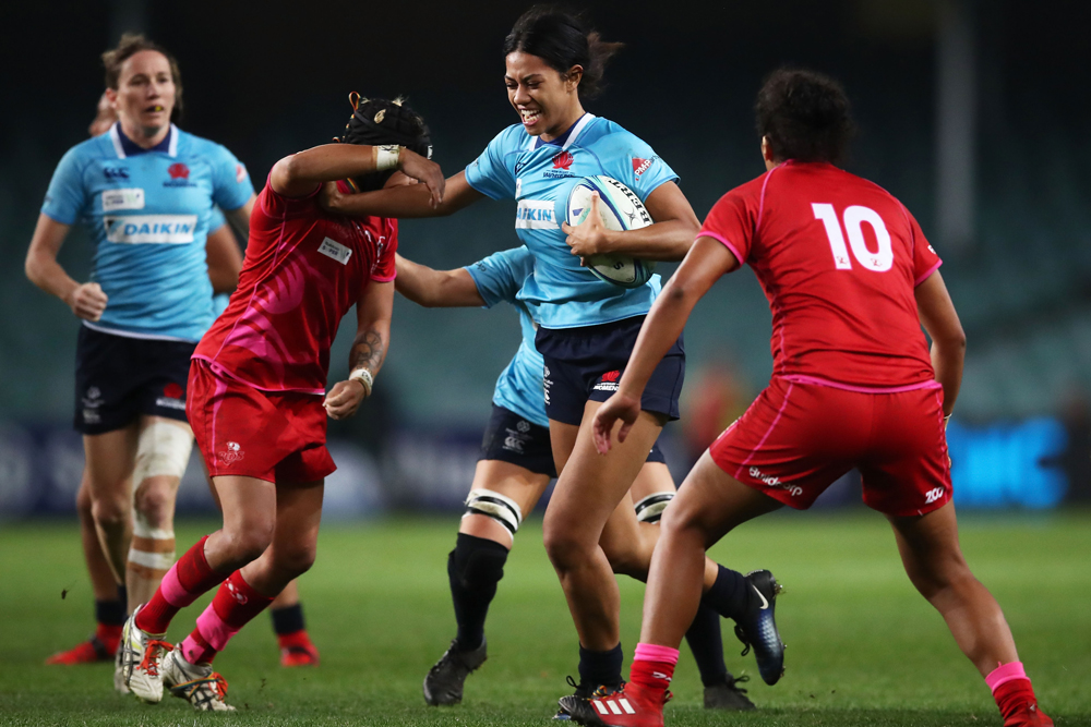 Lafai in action for the Waratahs in the 2018 Super W final. Photo: Getty Images