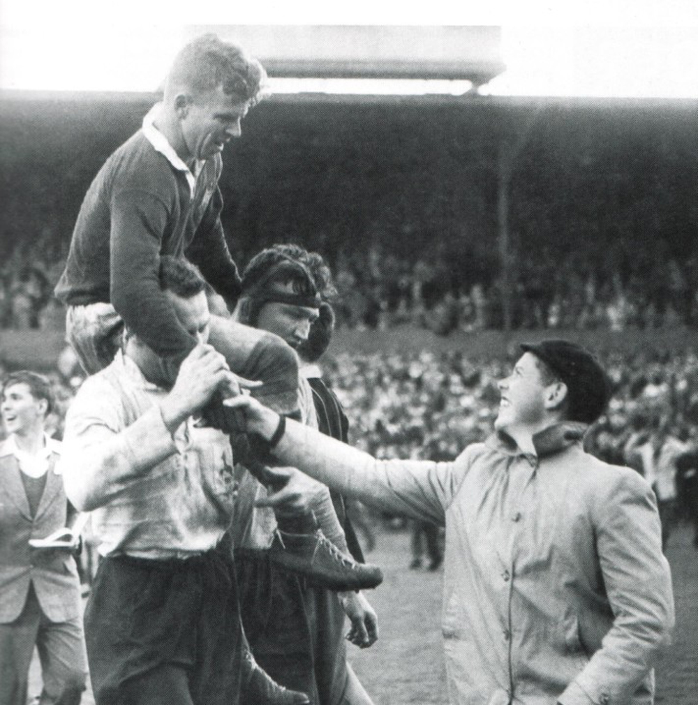 John Solomon chaired off in South Africa. Photo: Supplied