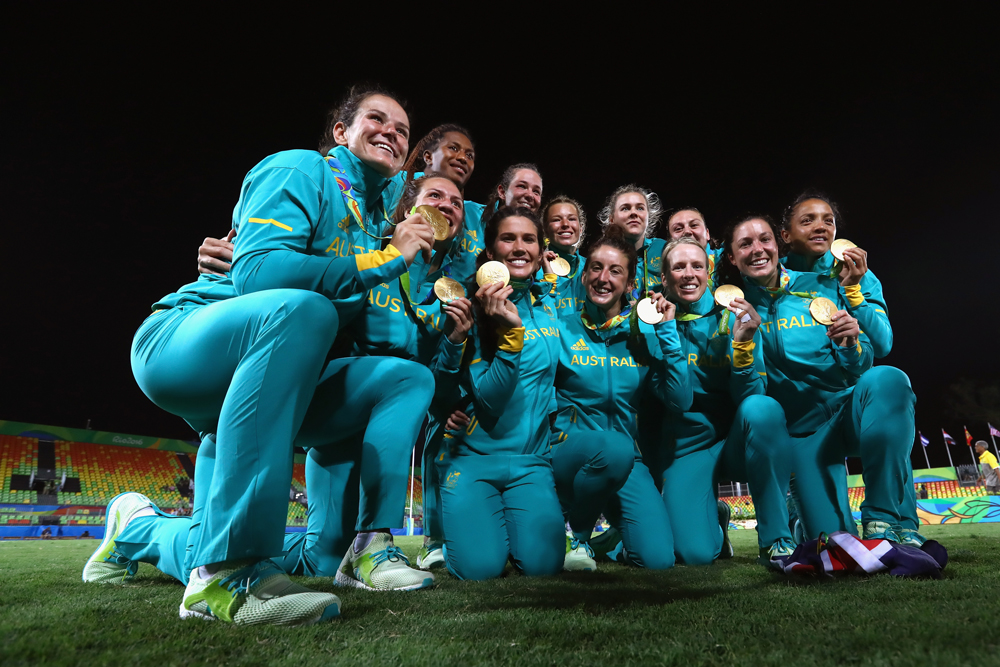 Australia's women won gold in Rio in 2016. Photo: Getty Images