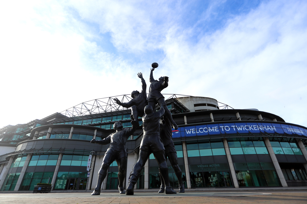 Twickenham Stadium is dormant with no rugby events on. Photo: Getty Images