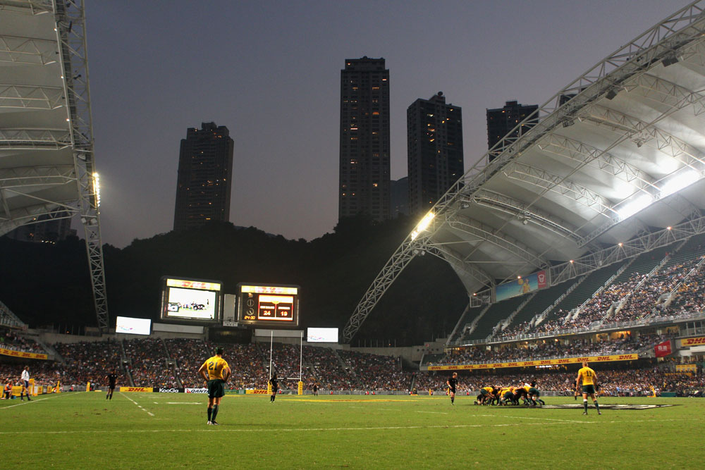 Hong Kong Stadium on the night of the 2010 Bledisloe. Photo: Getty Images