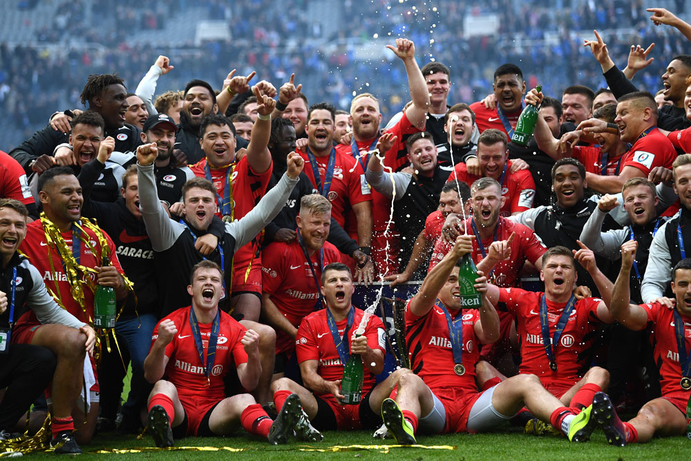 English club Saracens won the Champions Cup in 2019. Photo: Getty Images