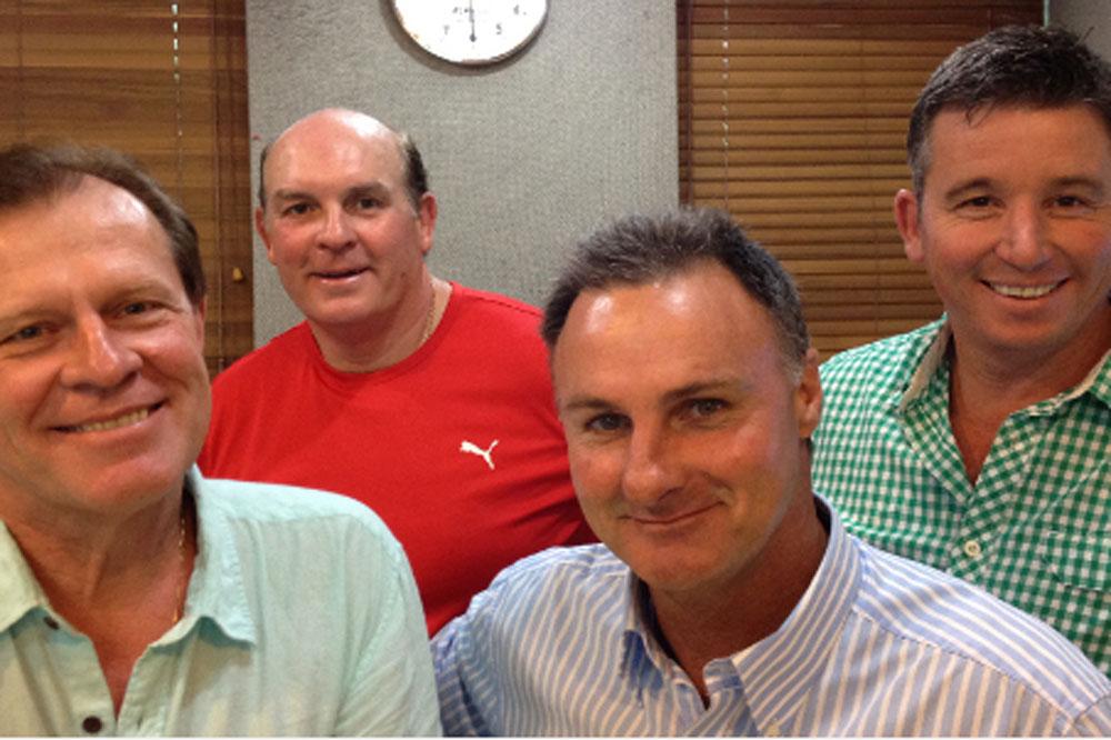 Brett Papworth with the Talkin' Sport team. Photo: Supplied