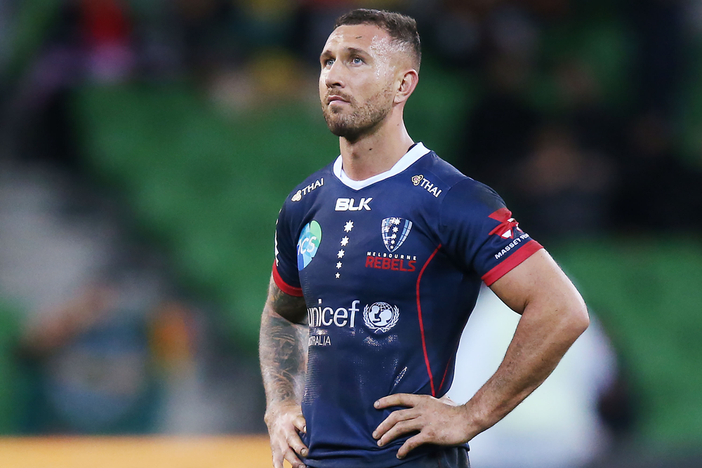 Quade Cooper in action for the Rebels in 2019. Photo: Getty Images