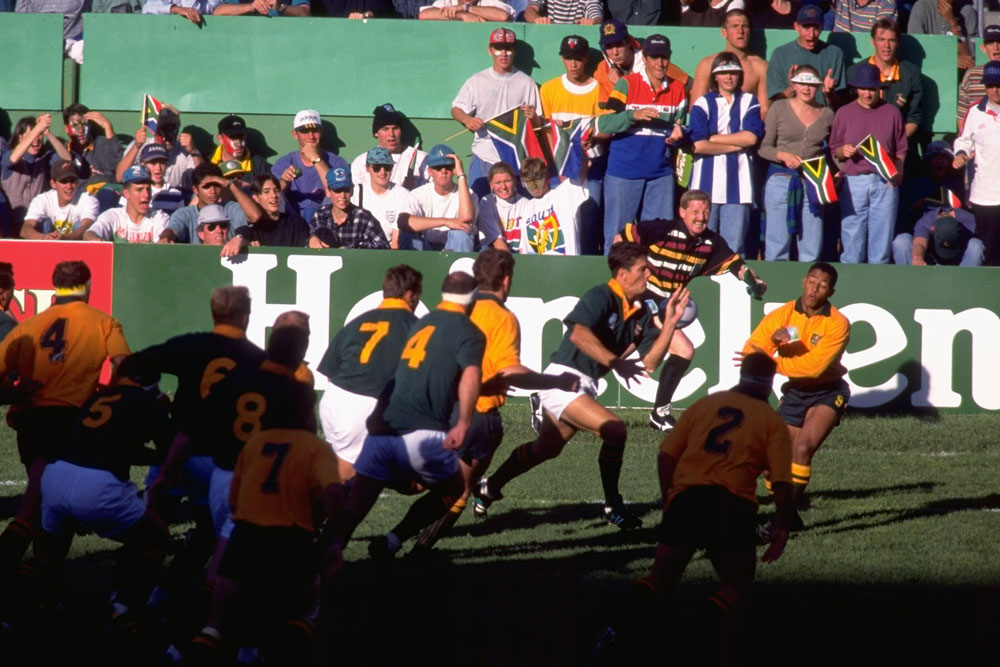 Slattery says the 1995 Rugby World Cup had a very different vibe. Photo: Getty Images
