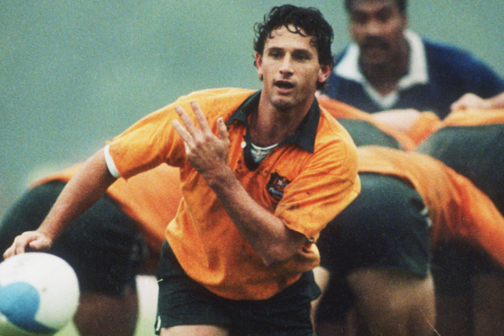 Peter Slattery in action during the 1991 Rugby World Cup. Photo: Getty Images