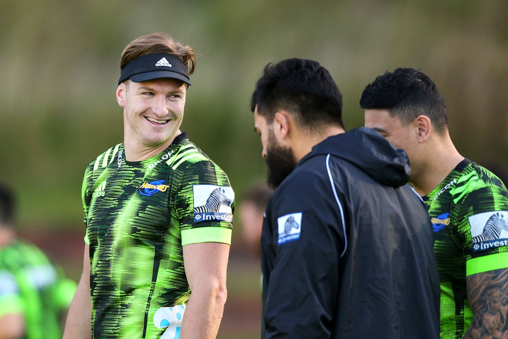 Jordie Barrett trained with the Hurricanes on Tuesday. Photo: Getty Images