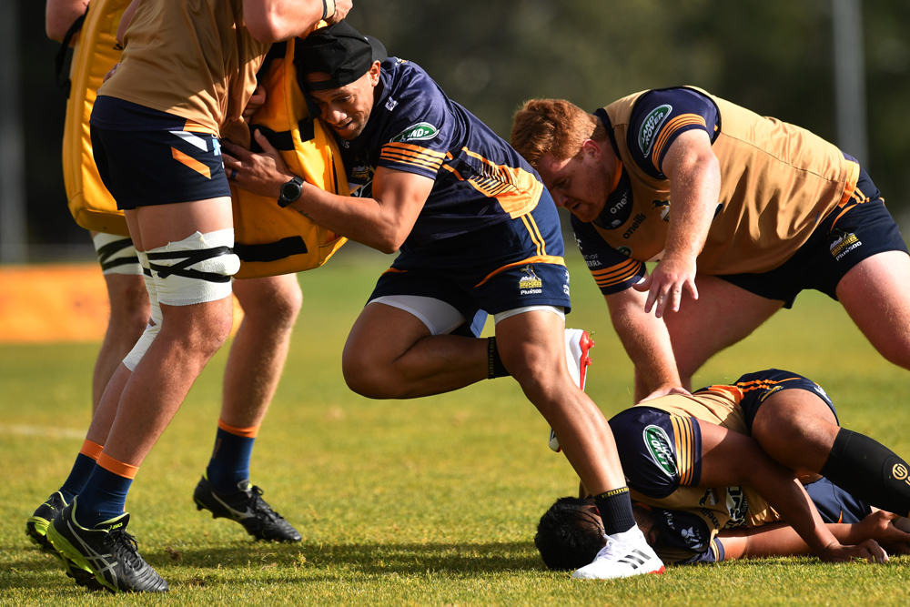 Christian Lealiifano at Brumbies training. Photo: Getty Images