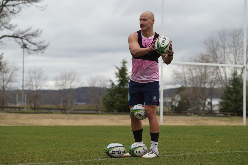 Billy Meakes is hoping he can impress Wallabies coach Dave Rennie. Photo: Rebels Media