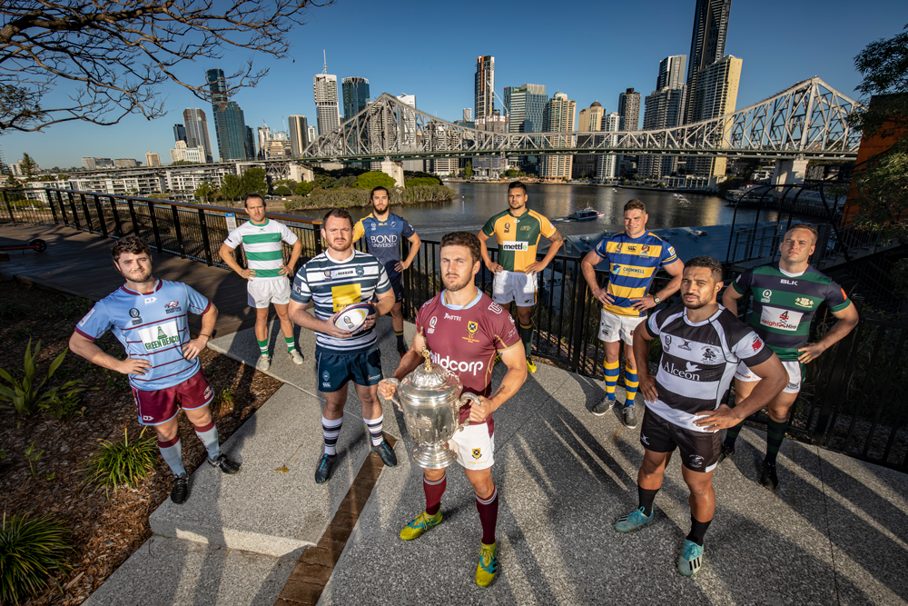 Queensland Premier Rugby captains. Photo: QRU Media/Brendan Hertel