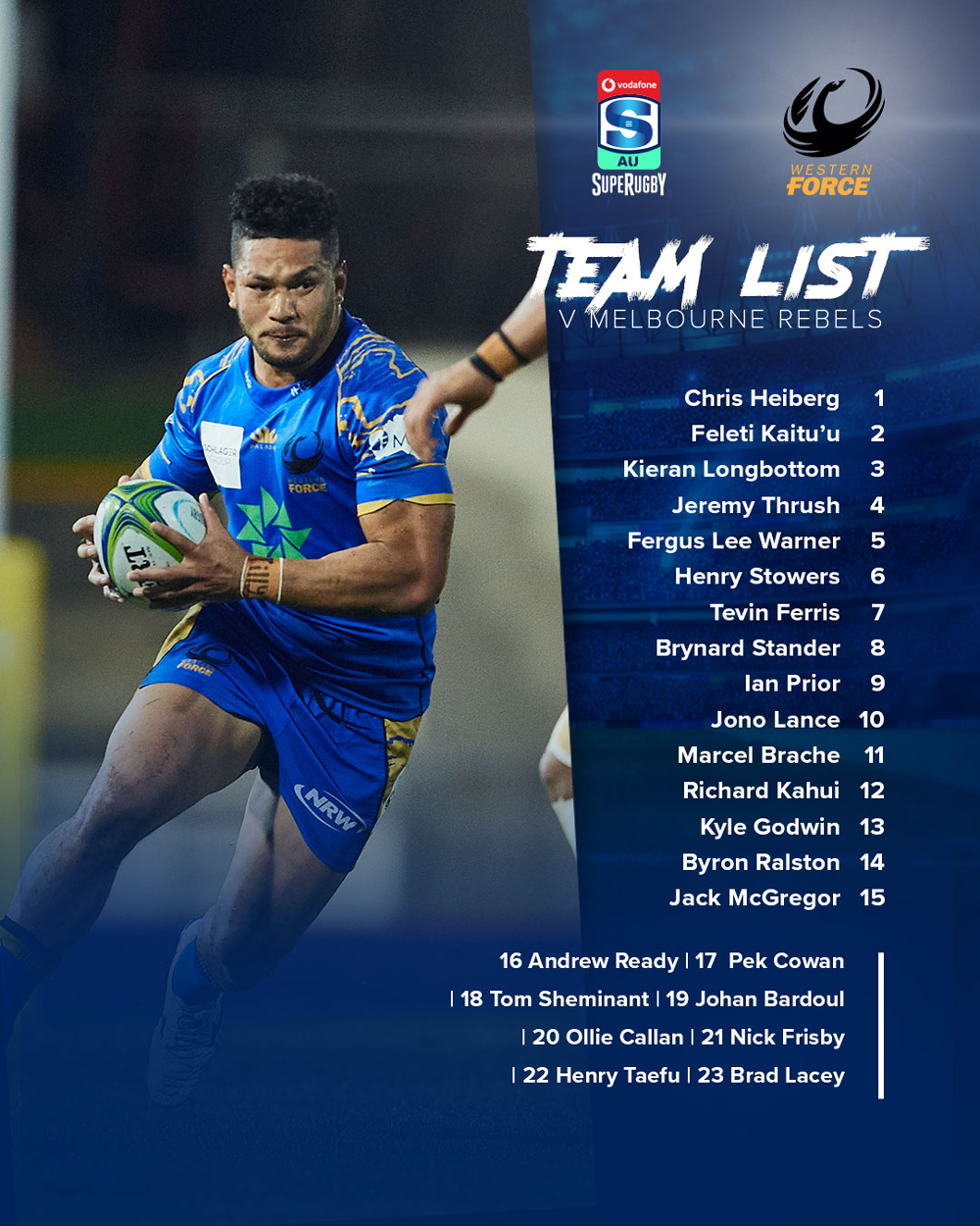 The Force's round five team to face the Rebels.