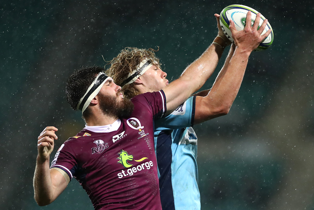 The Reds struggled to win their lineouts. Photo: Getty Images