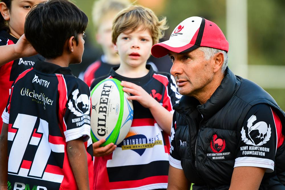 Kiwi Hawthorn under 8s coach Peter Taitoko. Photo: Rugby AU Media/Stuart Walmsley