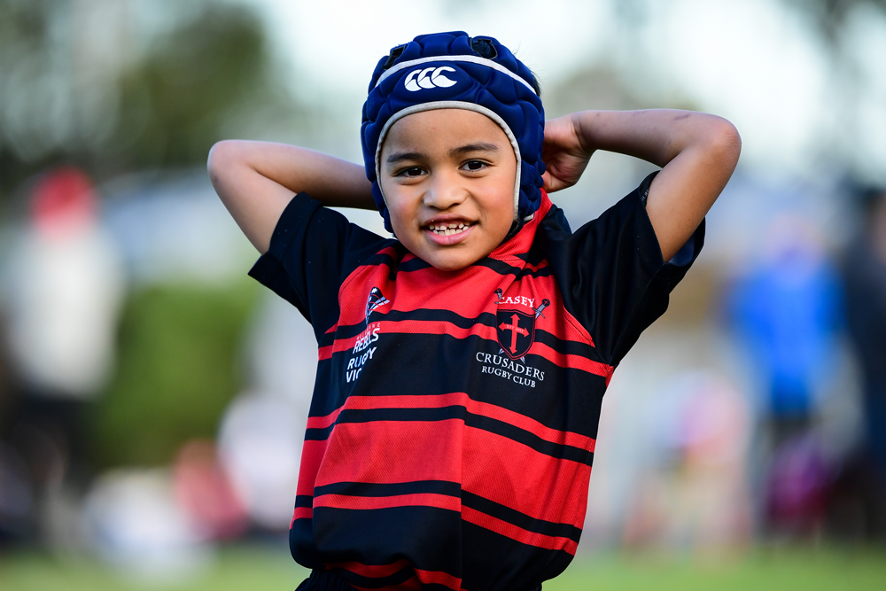 A junior Crusader at Kiwi Hawthorn earlier this season. Photo: Rugby AU Media/Stuart Walmsley